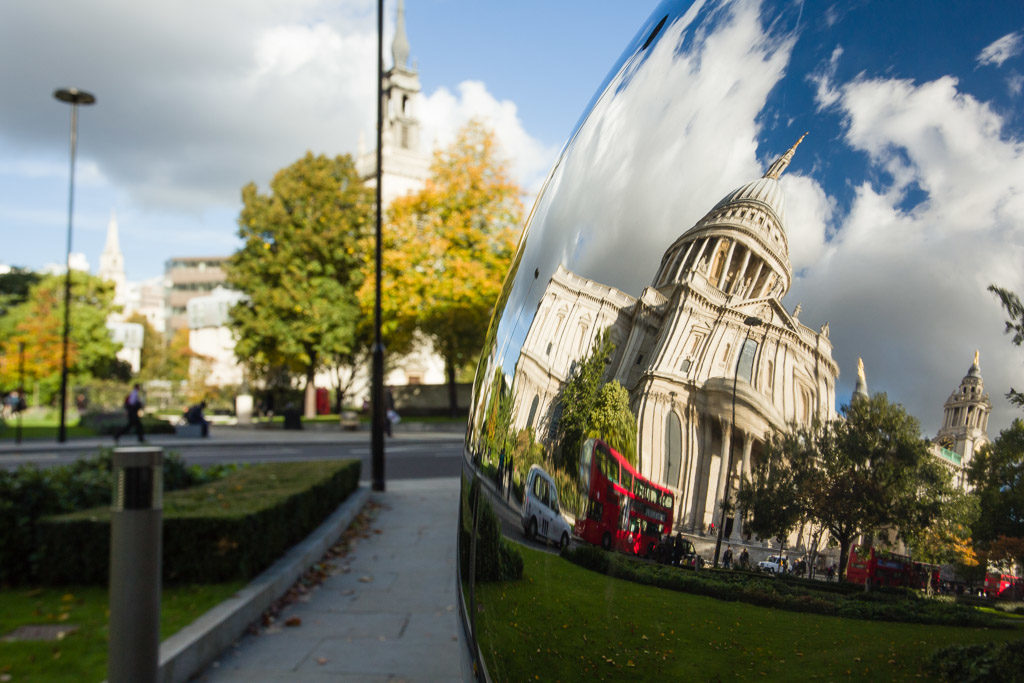 ENG, GB, UK, bus, cathedral, church, churches, city of london, england, great britain, greater london, kathedrale, kirche, kirchen, london, public transport, reflections, reflektionen, st paul's cathedral, st paul's churchyard, united kingdom, world, öpnv
