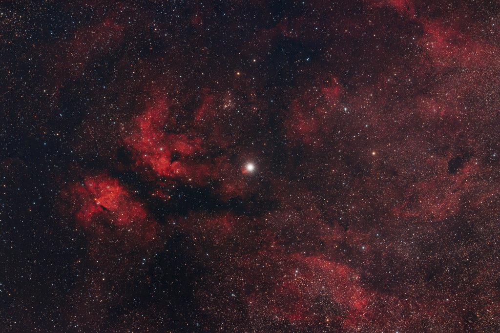 astrofotografie, astronomie, astronomy, astrophotography, cygnus, emission nebula, emissionsnebel, gamma cygni nebula, ic, ic1318, sadr, sadr region, schwan