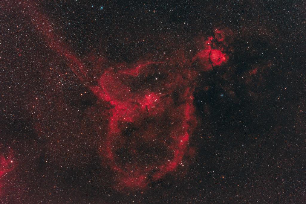 astrofotografie, astronomie, astronomy, astrophotography, cassiopeia, emission nebula, emissionsnebel, heart nebula, herznebel, ic, ic1805, kassiopeia