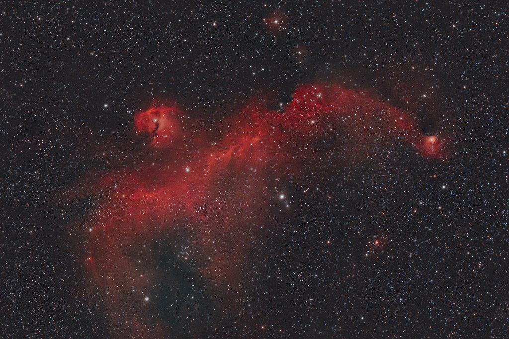 astrofotografie, astronomie, astronomy, astrophotography, emission nebula, emissionsnebel, ic, ic2177, monoceros, seagull nebula