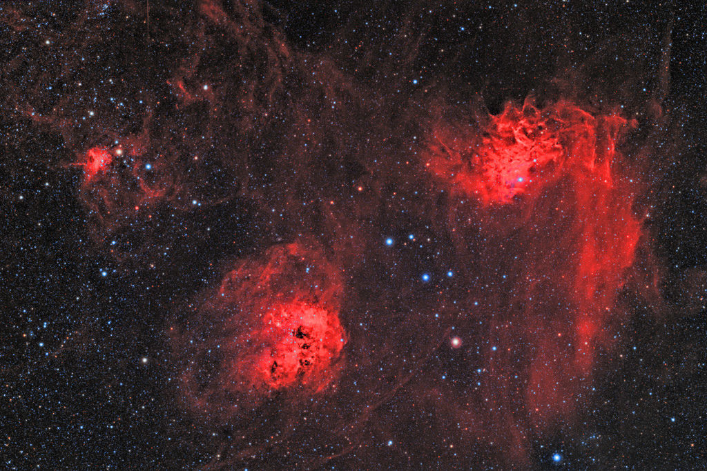 astrofotografie, astronomie, astronomy, astrophotography, auriga, emission nebula, emissionsnebel, flaming star nebula, ic, ic405, ic410