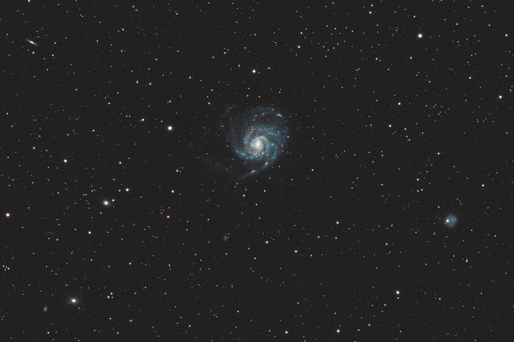 astrofotografie, astronomie, astronomy, astrophotography, feuerrad-galaxie, galaxy, m101, messier, ngc, ngc5422, ngc5457, ngc5473, ngc5474, ngc5485, ngc5486, pinwheel galaxy, spiral galaxy, ursa major