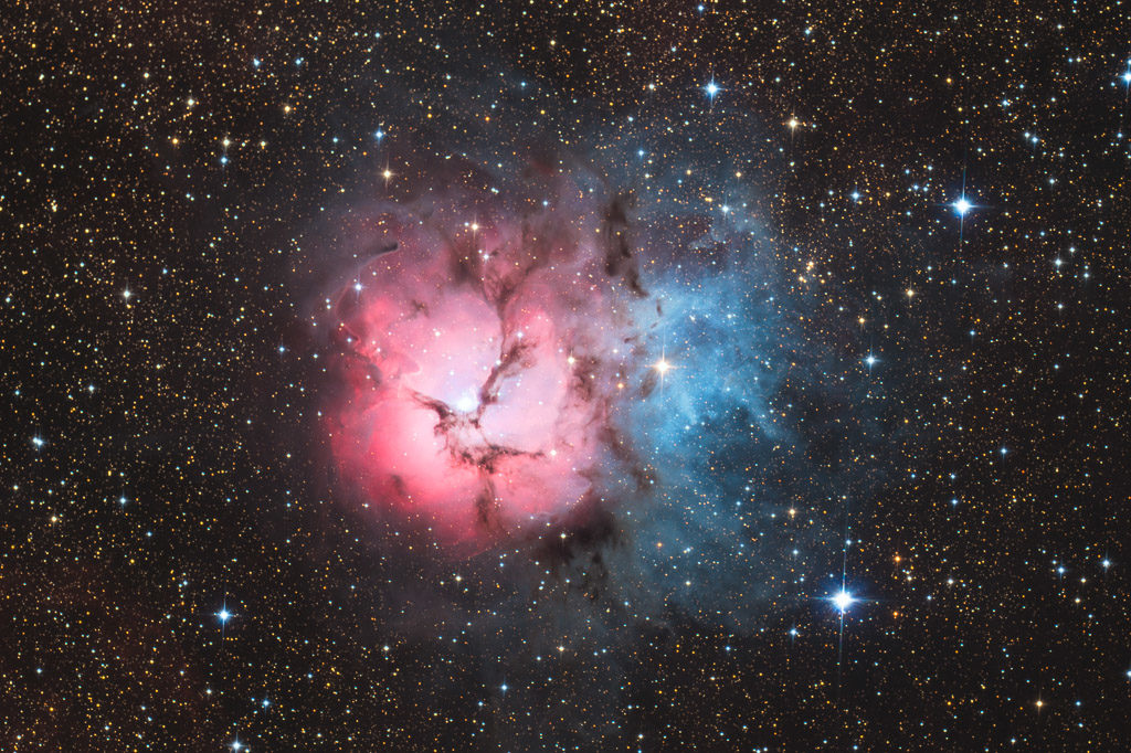 astrofotografie, astronomie, astronomy, astrophotography, emission nebula, emissionsnebel, m20, messier, ngc, ngc6514, sagittarius, trifid nebula