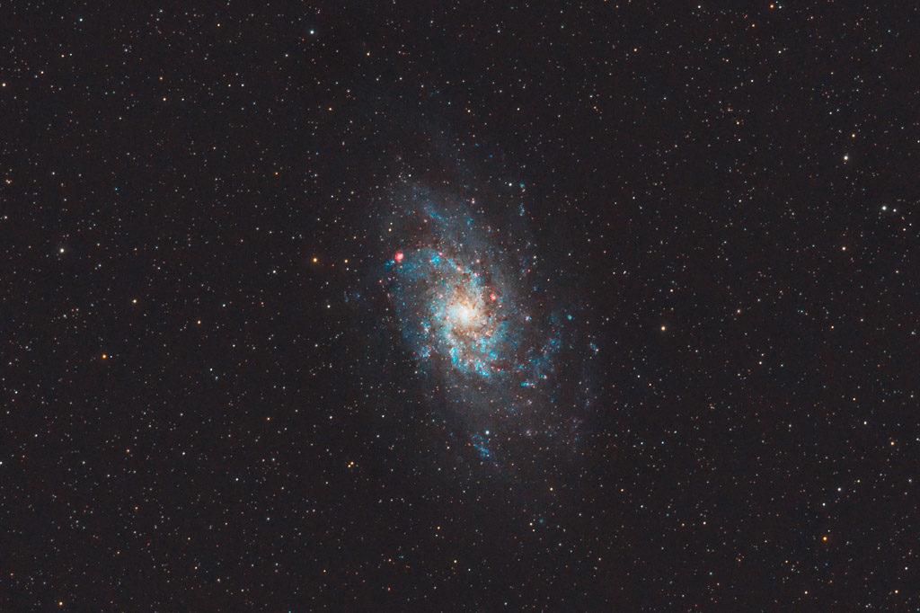 astrofotografie, astronomie, astronomy, astrophotography, galaxy, m33, messier, ngc, ngc598, spiral galaxy, triangulum, triangulum galaxy