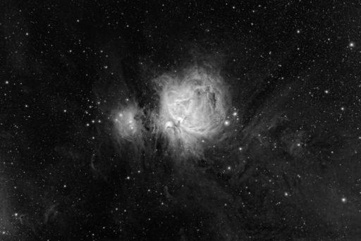 astrofotografie, astronomie, astronomy, astrophotography, b&w, black and white, bw, emission nebula, emissionsnebel, fotografie, m42, m43, messier, ngc, ngc1973, ngc1975, ngc1977, orion, orion nebula, orionnebel, photography, running man nebula, schwarzweiß, sw