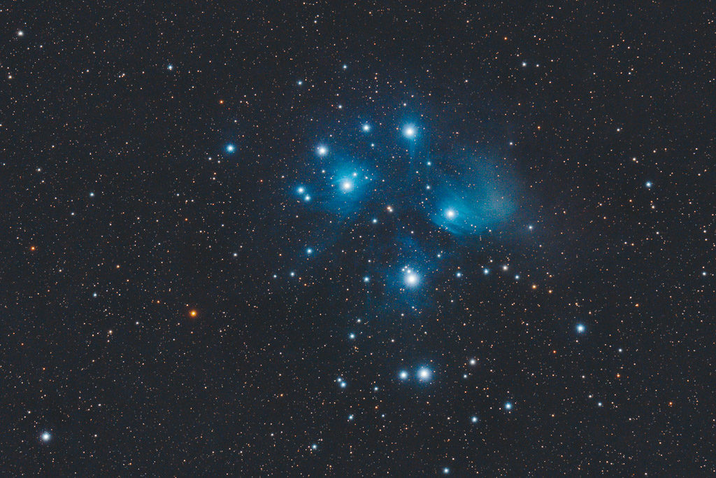 astrofotografie, astronomie, astronomy, astrophotography, m45, messier, open cluster, pleiades, plejaden, star, star cluster, stars, stern, sterne, sternhaufen