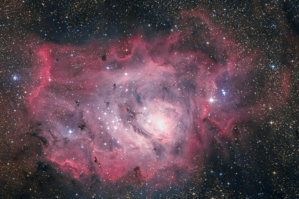 astrofotografie, astronomie, astronomy, astrophotography, emission nebula, emissionsnebel, lagoon nebula, m8, messier, ngc, ngc6523, sagittarius