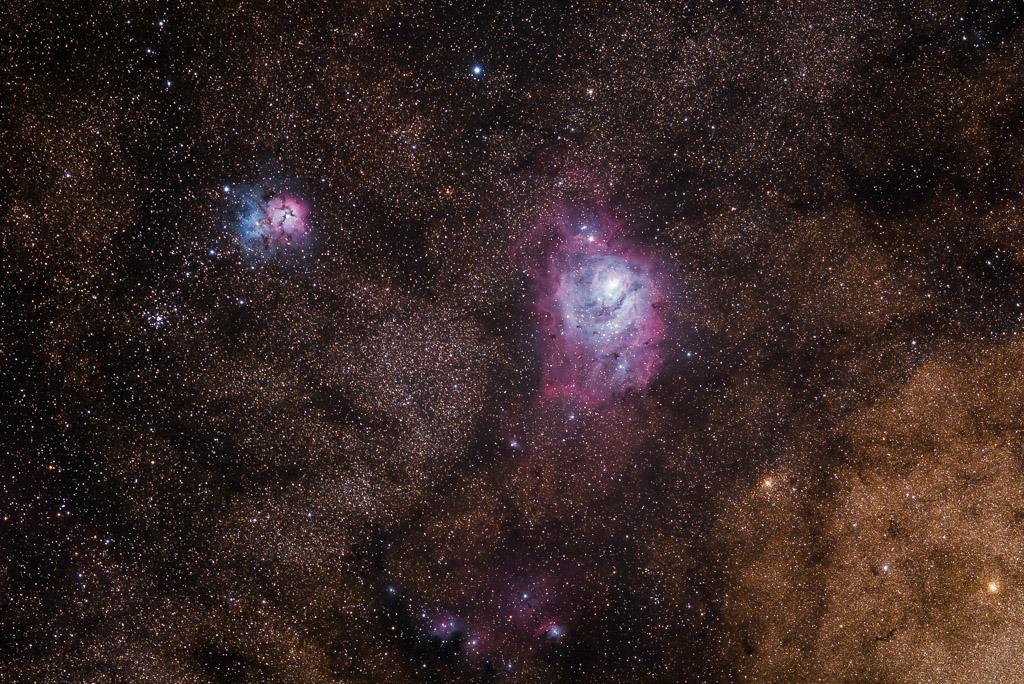 NA, astrofotografie, astronomie, astronomy, astrophotography, hakos, hakos guest farm, ias, ias observatory, ias observatory hakos, khomas, lagoon nebula, m20, m8, messier, namibia, ngc, ngc6514, ngc6523, sagittarius, trifid nebula, world