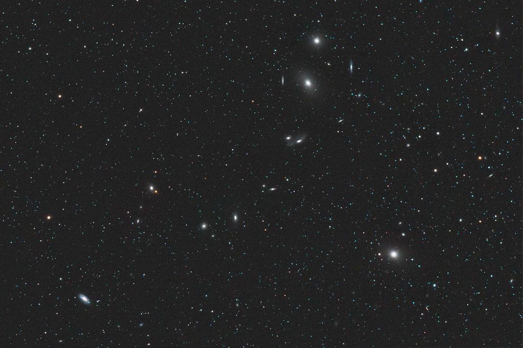 astrofotografie, astronomie, astronomy, astrophotography, galaxy, galaxy cluster, jungfrau, m84, m86, m87, m88, markarians chain, messier, ngc, ngc4374, ngc4406, ngc4435, ngc4438, ngc4458, ngc4461, ngc4473, ngc4477, virgo, virgo cluster