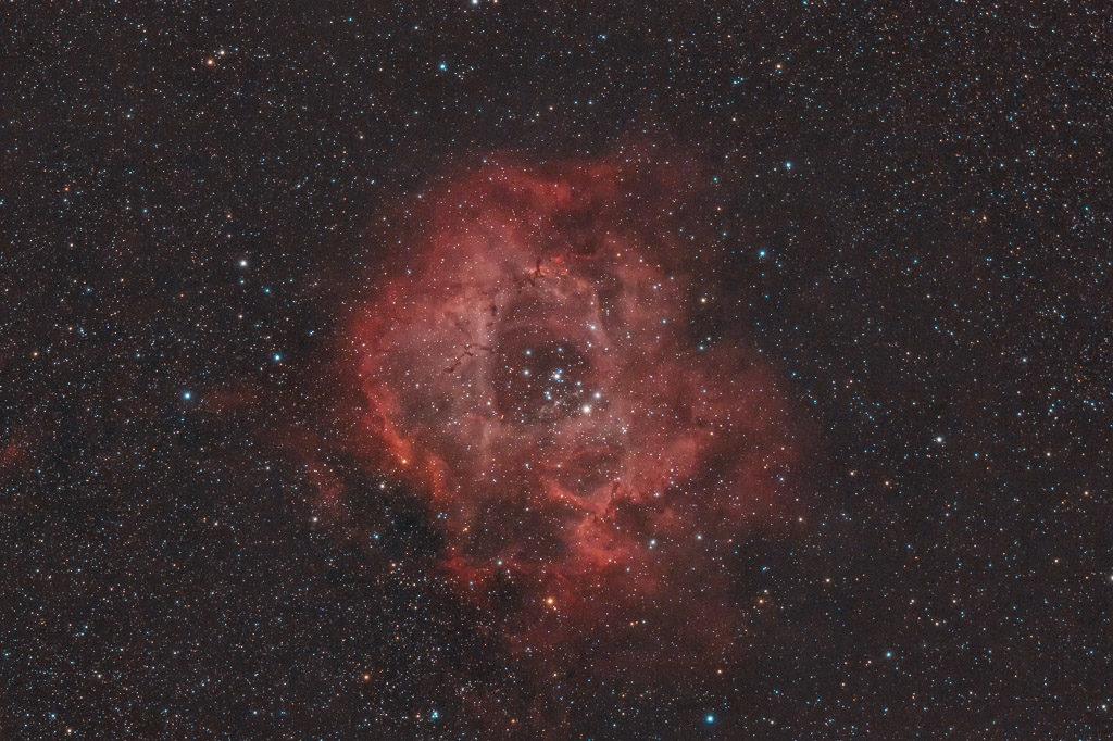 astrofotografie, astronomie, astronomy, astrophotography, emission nebula, emissionsnebel, monoceros, ngc, ngc2237, ngc2238, ngc2239, ngc2244, open cluster, rosette nebula, star, star cluster, stars, stern, sterne, sternhaufen