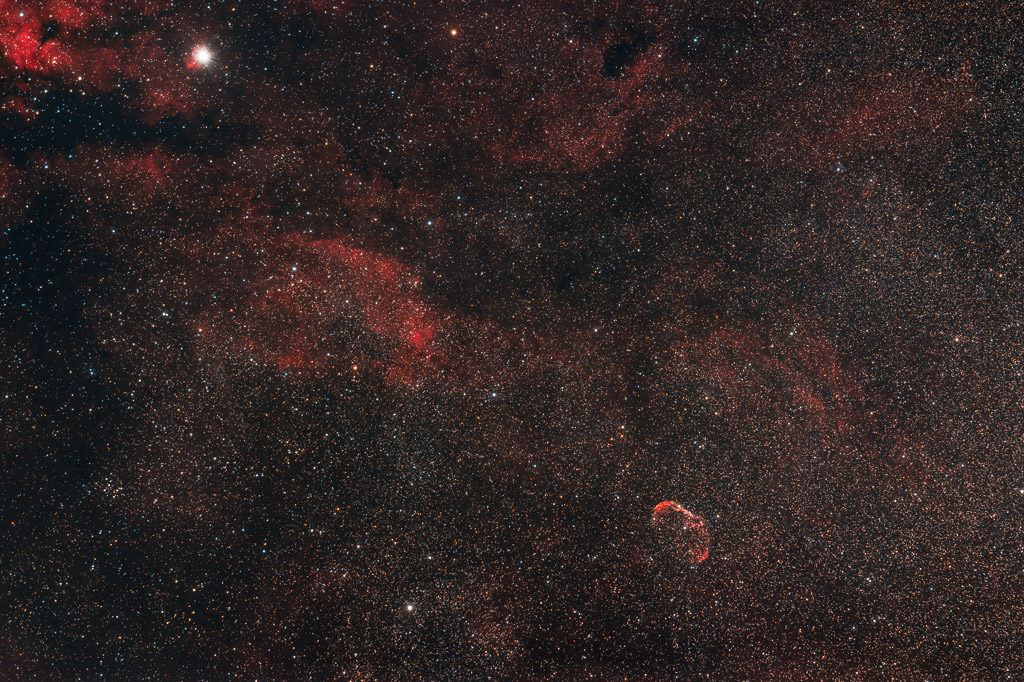 astrofotografie, astronomie, astronomy, astrophotography, crescent nebula, cygnus, emission nebula, emissionsnebel, ngc, ngc6888, sadr, schwan
