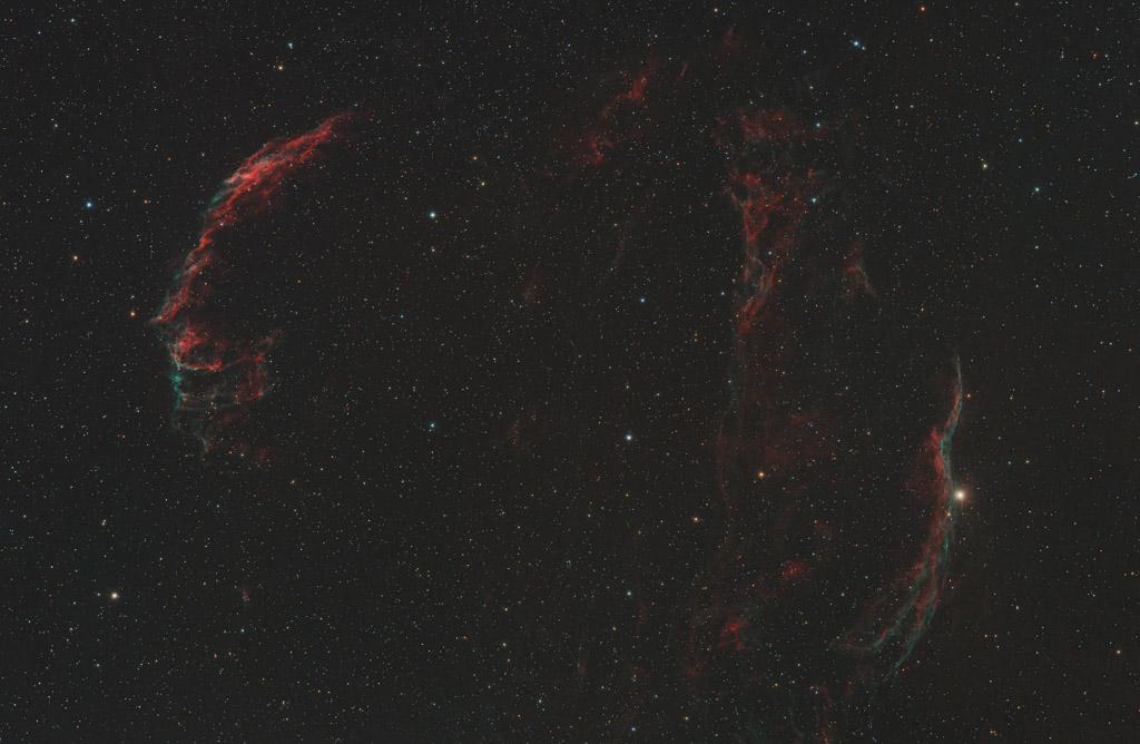 astrofotografie, astronomie, astronomy, astrophotography, caldwell, caldwell33, caldwell34, cirrusnebel, cygnus, cygnus loop, cygnusbogen, eastern veil, ic, ic1340, ngc, ngc6960, ngc6974, ngc6979, ngc6992, ngc6995, pickerings triangle, schwan, supernova remnant, supernova-überrest, veil nebula, western veil