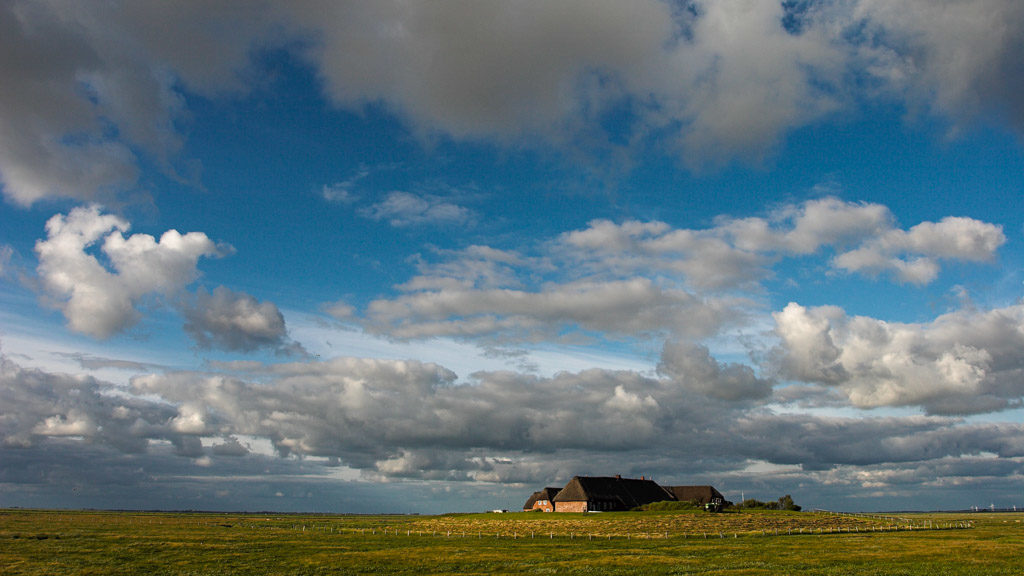 DE, DE-SH, NF, SH, buildings, clouds, deutschland, gebäude, germany, gröde, hallig, hallig gröde, halligen, haus, himmel, holm, house, houses, häuser, jahreszeit, jahreszeiten, landscape, landschaft, marshes, natur, nature, nordfriesland, nordsee, north frisia, north sea, reise, rural, salt marshes, salzwiesen, schleswig-holstein, season, seasons, sky, sommer, summer, travel, wadden sea, warft, wattenmeer, wolken, world