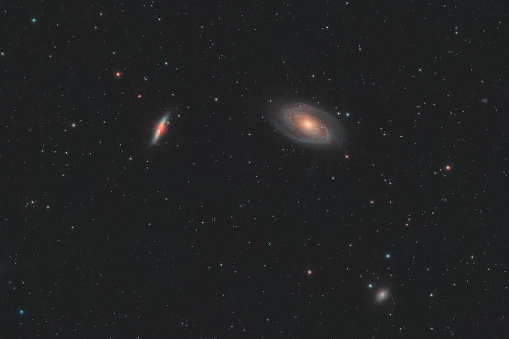 astrofotografie, astronomie, astronomy, astrophotography, bodes galaxy, galaxy, m81, m82, messier, ngc, ngc3031, ngc3034, spiral galaxy, ursa major