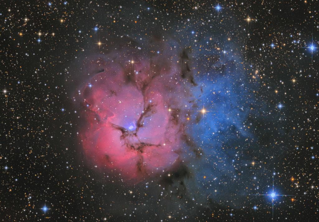 20-inch ak3, NA, ak3, astrofotografie, astronomie, astronomy, astrophotography, emission nebula, emissionsnebel, hakos, hakos guest farm, ias, ias observatory, ias observatory hakos, khomas, m20, messier, namibia, ngc, ngc6514, reflection nebula, sagittarius, star, stars, stern, sterne, world