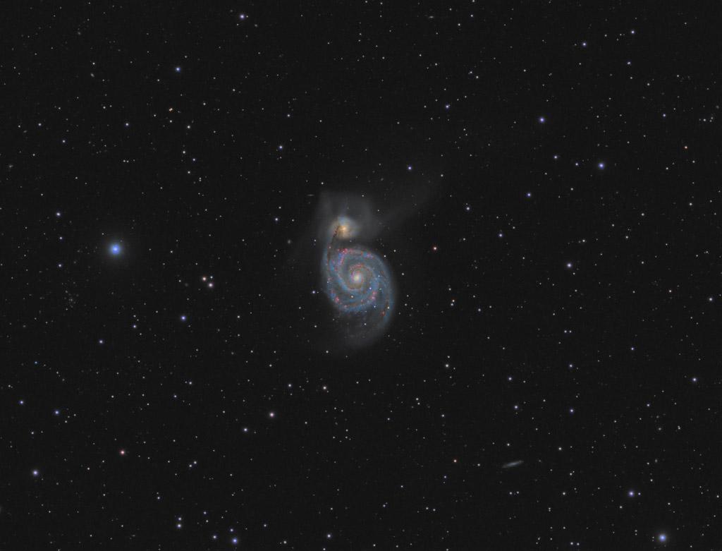 astrofotografie, astronomie, astronomy, astrophotography, canes venatici, galaxy, m51, messier, whirlpool galaxy