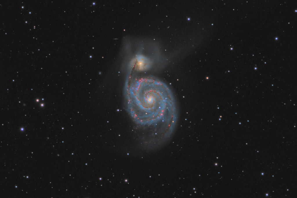 astrofotografie, astronomie, astronomy, astrophotography, canes venatici, galaxy, m51, messier, whirlpool galaxy