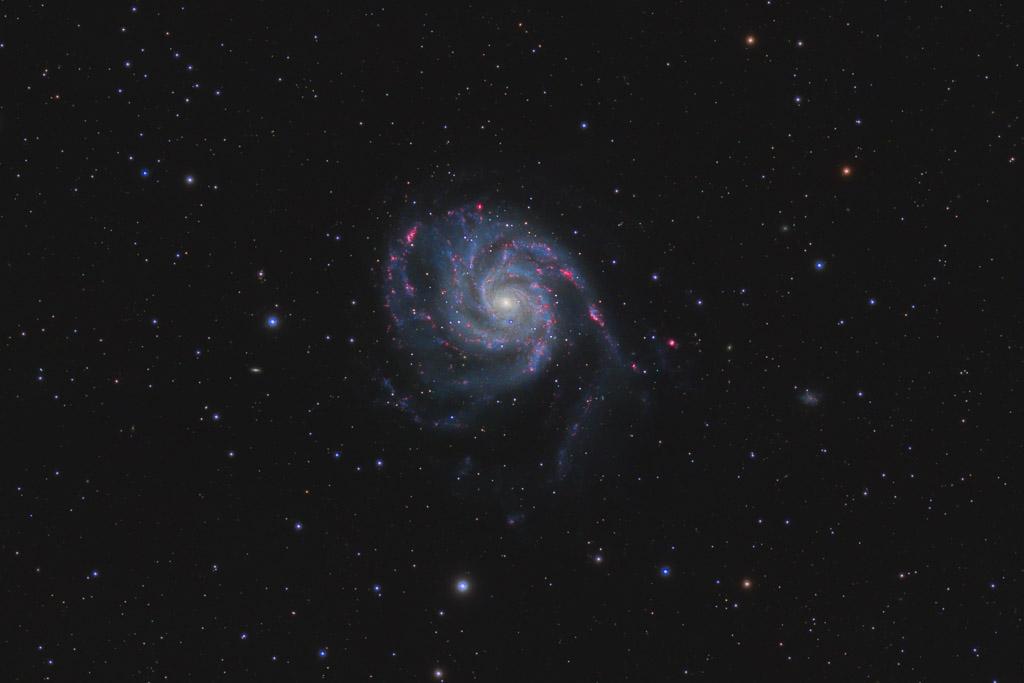 astrofotografie, astronomie, astronomy, astrophotography, feuerrad-galaxie, galaxy, m101, messier, pinwheel galaxy, ursa major