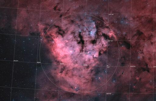 astrofotografie, astronomie, astronomy, astrophotography, bicolor, ced214, cederblad, cepheus, emission nebula, emissionsnebel, kepheus, ngc, ngc7822