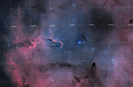 astrofotografie, astronomie, astronomy, astrophotography, cepheus, elefantenrüsselnebel, elephants trunk nebula, emission nebula, emissionsnebel, ic, ic1396, kepheus
