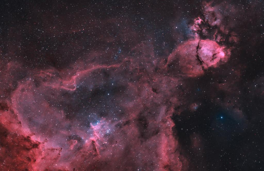 astrofotografie, astronomie, astronomy, astrophotography, bicolor, cassiopeia, emission nebula, emissionsnebel, heart nebula, herznebel, ic, ic1805, kassiopeia
