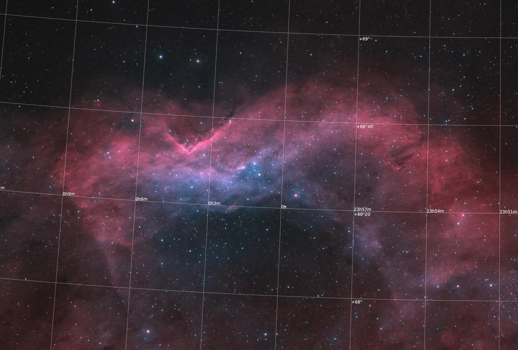 astrofotografie, astronomie, astronomy, astrophotography, bicolor, cepheus, emission nebula, emissionsnebel, kepheus, ngc, ngc7822