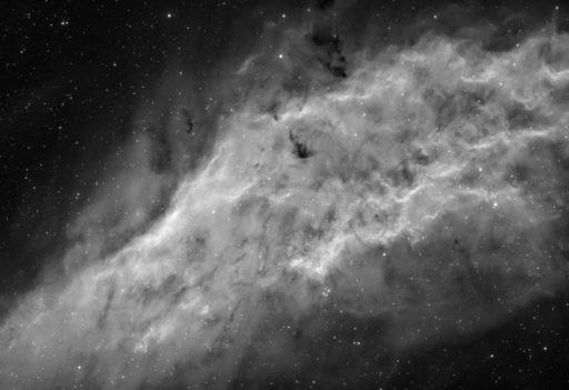 astrofotografie, astronomie, astronomy, astrophotography, b&w, black and white, bw, california nebula, emission nebula, emissionsnebel, fotografie, ngc, ngc1499, perseus, photography, schwarzweiß, sw