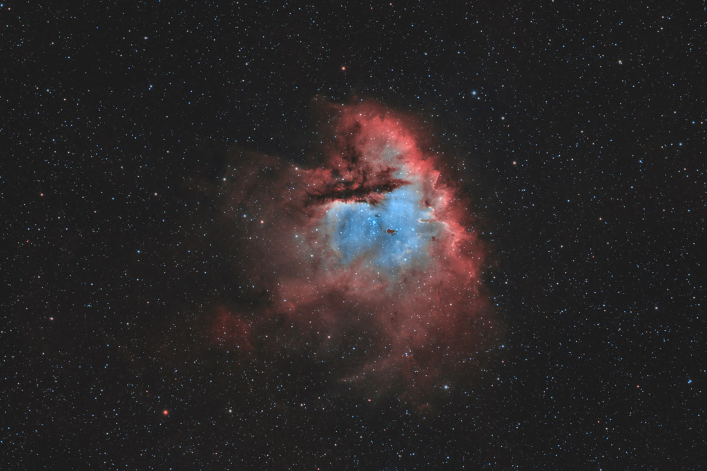 astrofotografie, astronomie, astronomy, astrophotography, bicolor, cassiopeia, emission nebula, emissionsnebel, kassiopeia, ngc, ngc281, pacman nebula