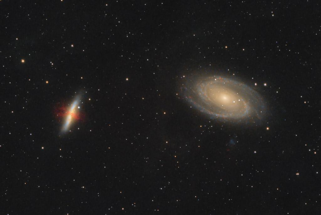 astrofotografie, astronomie, astronomy, astrophotography, bodes galaxy, cigar galaxy, galaxy, galaxy cluster, m81, m82, messier, ngc, ngc3031, ngc3034, spiral galaxy, star burst galaxy, ursa major