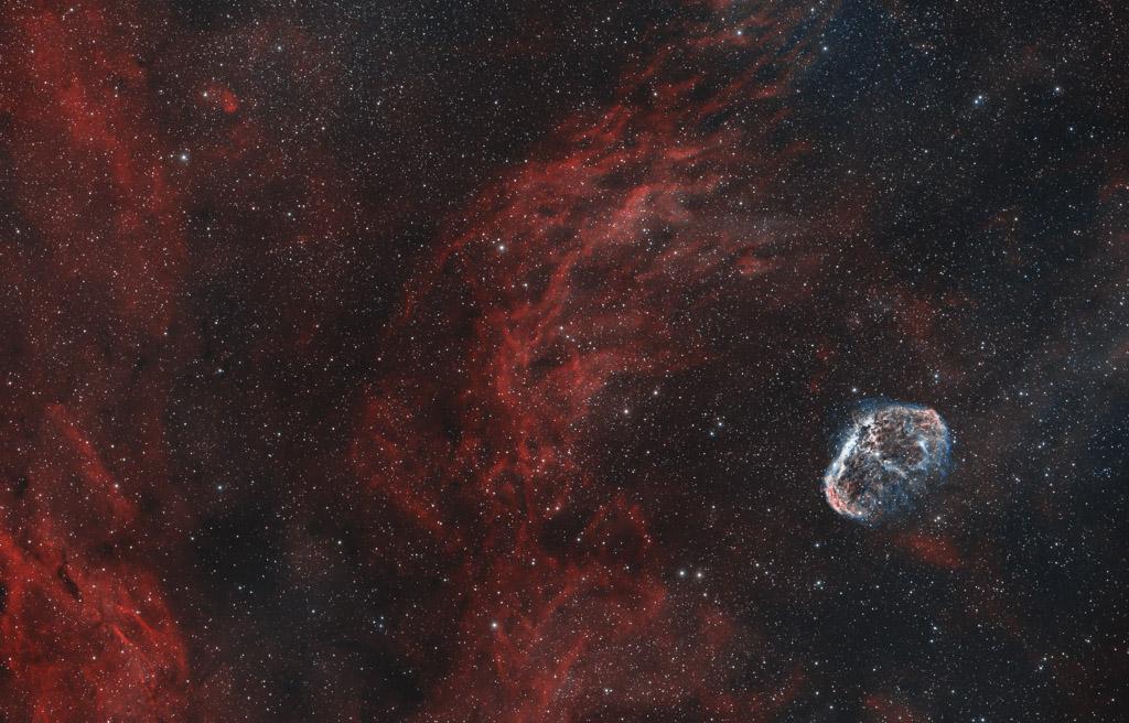 astrofotografie, astronomie, astronomy, astrophotography, bicolor, crescent nebula, cygnus, emission nebula, emissionsnebel, ngc, ngc6888, schwan