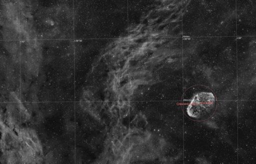 astrofotografie, astronomie, astronomy, astrophotography, b&w, black and white, bw, crescent nebula, cygnus, emission nebula, emissionsnebel, fotografie, ngc, ngc6888, photography, schwan, schwarzweiß, sw
