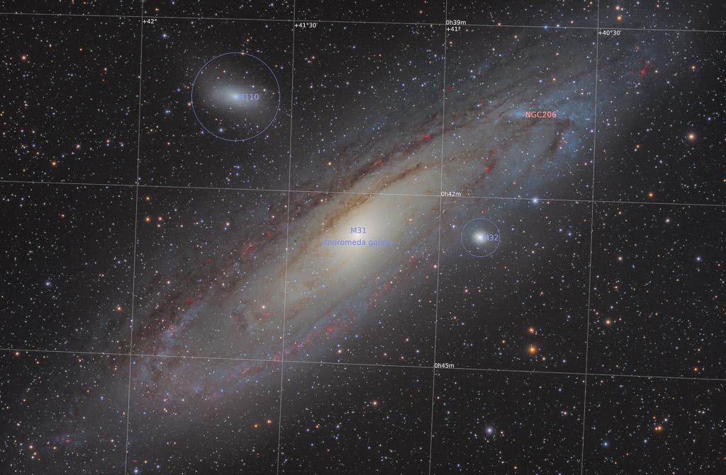 HaLRGB, andromeda, andromeda galaxy, andromeda nebula, astrofotografie, astronomie, astronomy, astrophotography, deep sky, galaxy, m110, m31, m32, messier, spiral galaxy